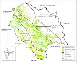 GEOGRAPHY OF HIMACHAL PRADESH - PHYSICAL DIVISIONS