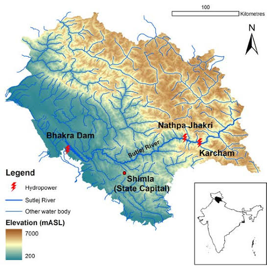 River system in Himachal Pradesh-THE SATLUJ RIVER